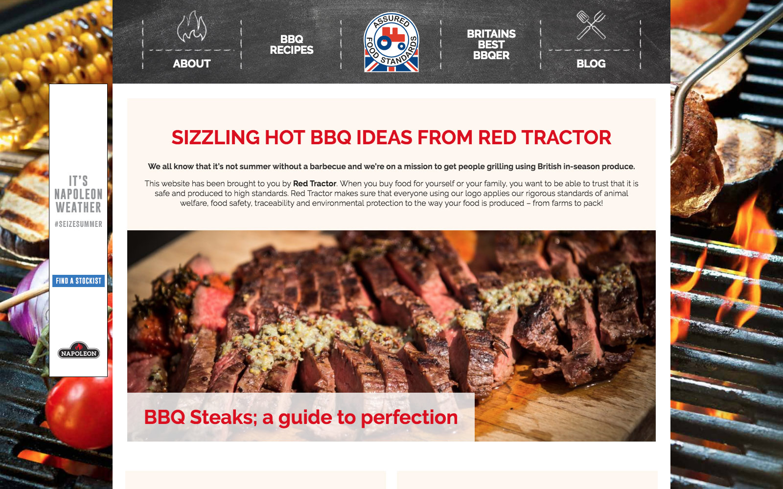 Red Tractor BBQ website landing page