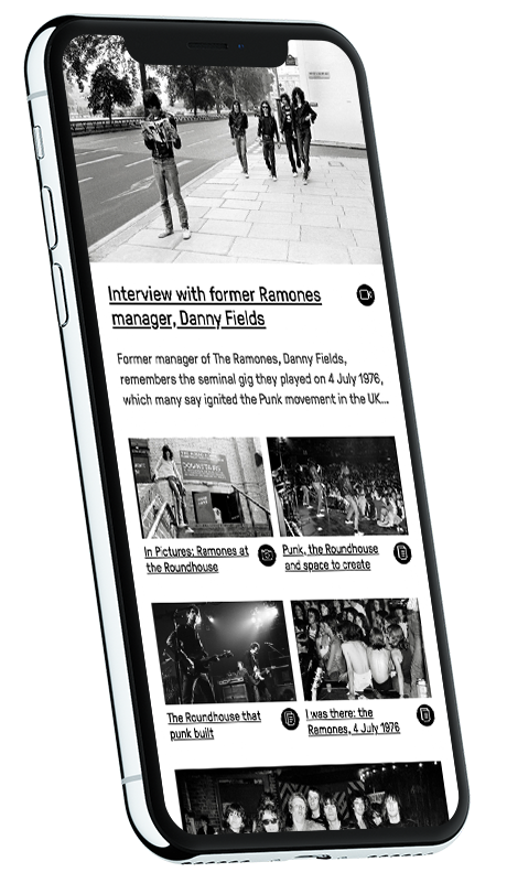Roundhouse website on iPhones